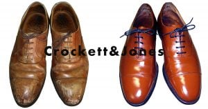 クロケットアンドジョーンズの靴のクリーニング