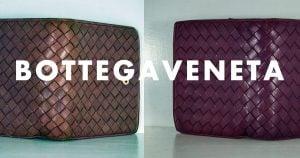 ボッテガヴェネタの財布のクリーニング