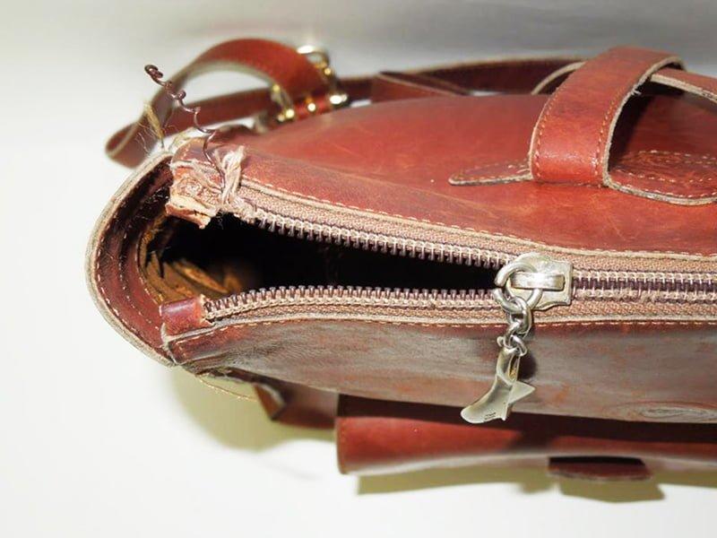 バッグのファスナー修理