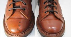 ブーツの染みのクリーニング