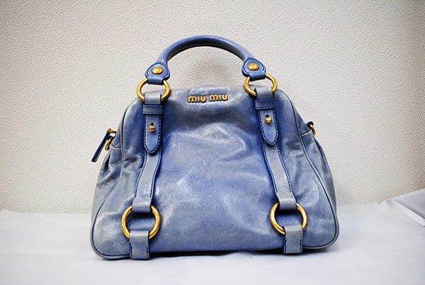 ミュミュウ(miumiu)バッグ・鞄のクリーニング・修理の事例作業前