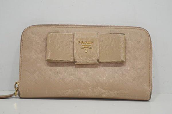 プラダサフィアーノの財布のクリーニング・修理の事例