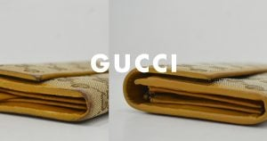 グッチの財布のクリーニング・修理の作業例
