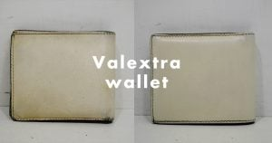 valextraの財布のクリーニング
