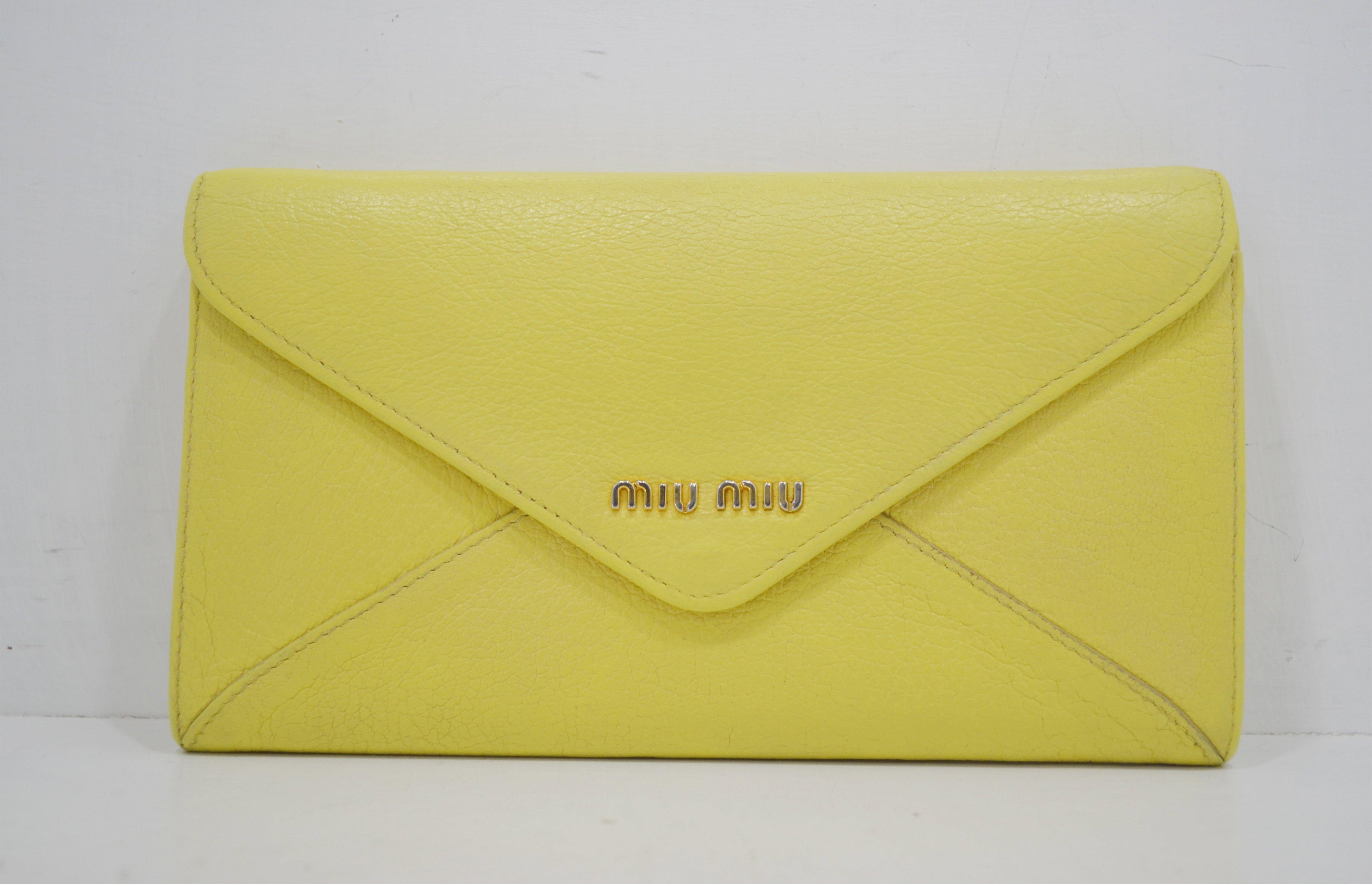 ミュウミュウの財布のクリーニング・修理