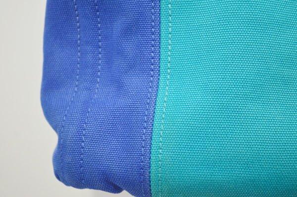 プラダ_カナパのバッグのクリーニング染色補正後(左側アップ)