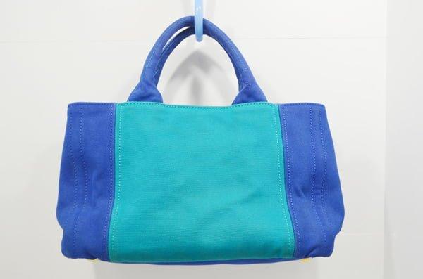プラダ_カナパのバッグのクリーニング染色補正後