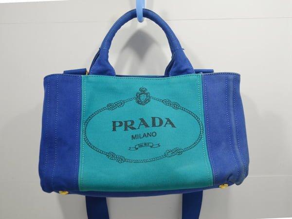 プラダ_カナパのバッグのクリーニング染色補正前(全体画像)