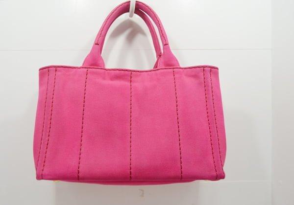 プラダ・カナパのバッグのクリーニング・染色補正の作業後背面