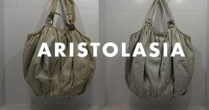 アリストラジアのバッグ(鞄)の作業例