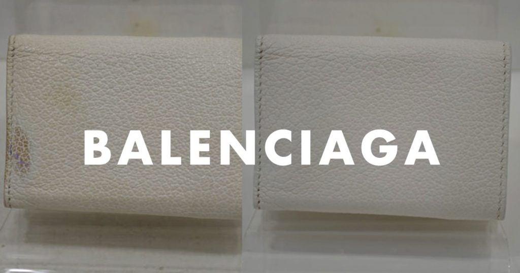 バレンシアガの財布のクリーニング事例