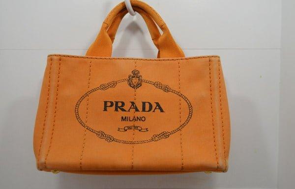 プラダ・カナパのバッグ・クリーニング前