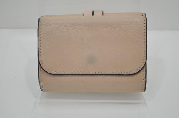 クロエの財布のクリーニングをする前(裏面の写真)
