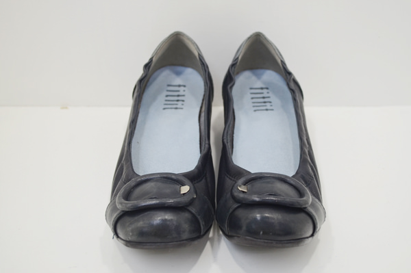 婦人靴のクリーニング前の画像