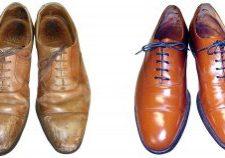 紳士靴の作業例